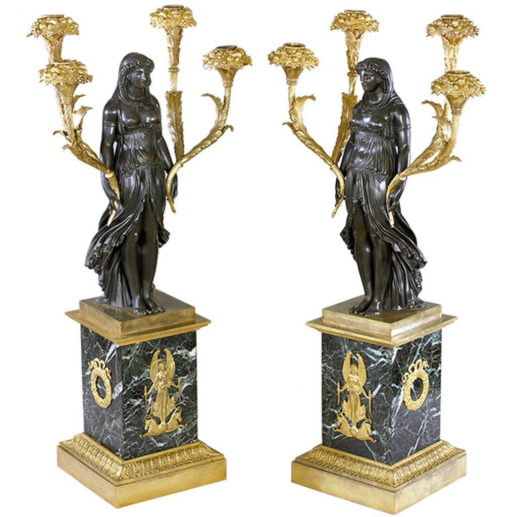 Bronze Candelabras